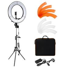"Fosoto RL18 <span class=keywords><strong>Ring</strong></span> Light Kit:18 ""/48Cm 55W 5500K Dimbare Led <span class=keywords><strong>Ring</strong></span> <span class=keywords><strong>Licht</strong></span>, light Stand, Draagtas Voor Live Stream/Make Youtube"
