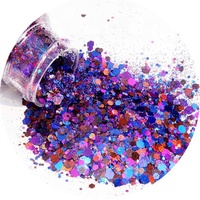 2020M wholesales chunky laser mixed chameleon holographic glitters for cosmetics crafts Christmas decoration