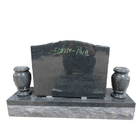 Cheap black granite headstone