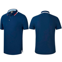 100% pima cotton Custom Brand Solid Color Blank Plain Men Casual Business Polo Shirts Wholesale