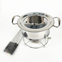 Stainless Steel Melting Chocolate Cheese Fondue Set