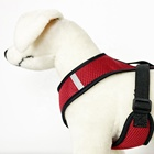 Red Dog Red Red Sandwich Reflective Dog Harness Adjustable Dog Walking Pet Harness