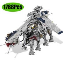 Новый 1748 шт Звездные войны серии тантива Iv Rebel Блокадный бегун Lepining строительные блоки 10019 игрушки Кирпичи(China)