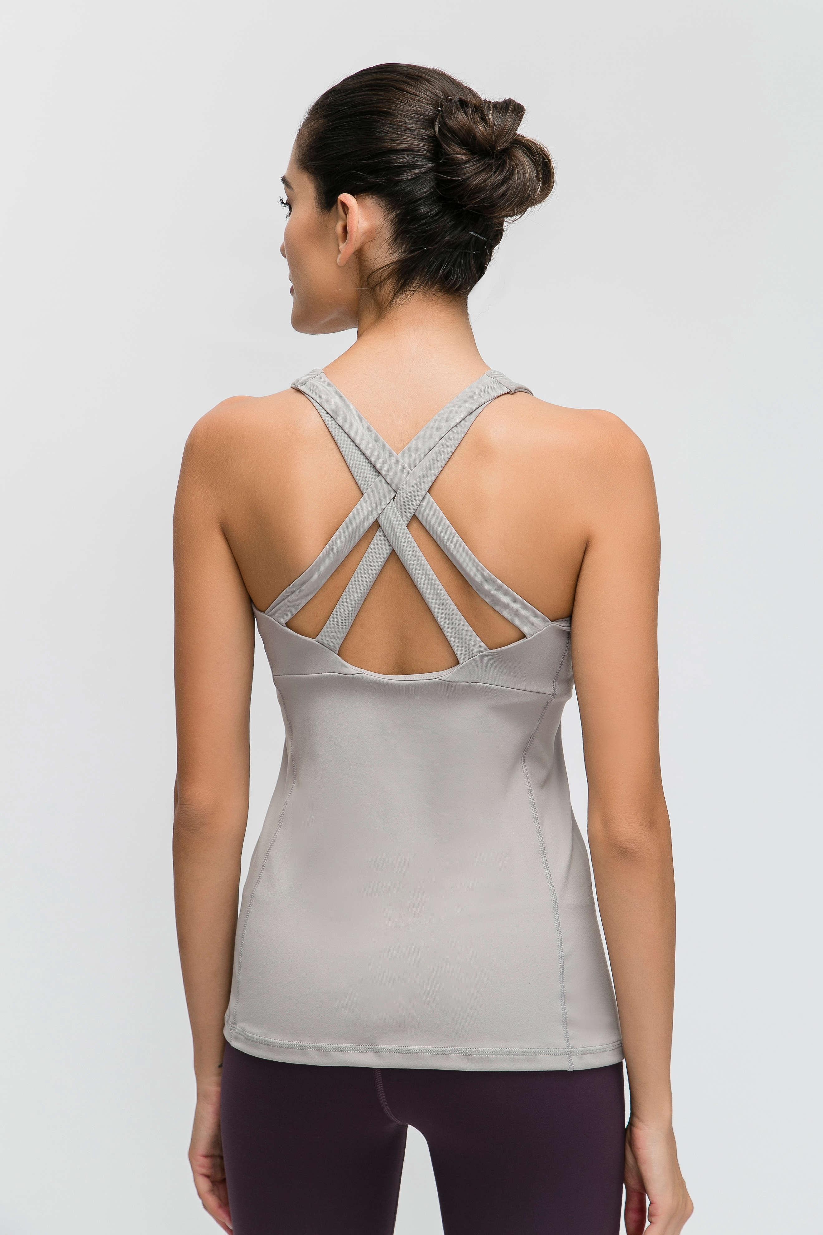 Wholesale Custom Logo New Women Loose Sports Tank Top Running Vest 4