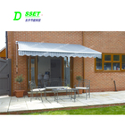 UV Protection Sun Shade Awning With Folding Arm