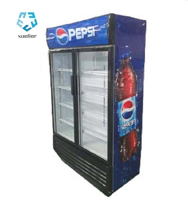 Factory glass door  display freezer cooler refrigerator with good quality