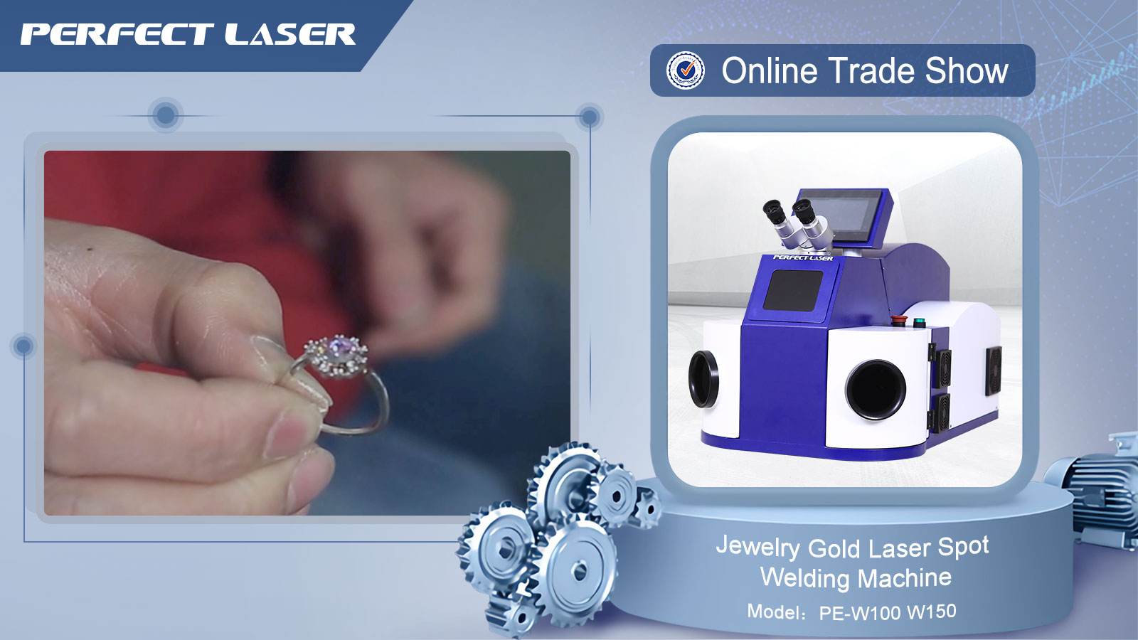 Desktop Jewelry Gold Diamond Tools Mini Small Laser Welding Machine for Goldsmiths
