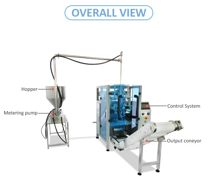 Factory Price Automatic VFFS Honey Sachet Packing Machine Sale in American