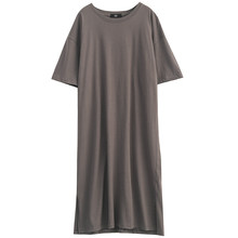 Женское длинное платье EAM, желтое платье большого размера с коротким рукавом и круглым вырезом, весенне-летняя мода 2020 1T601(Китай)