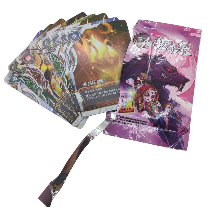 High Quality Wholesale Custom Printing Manufacturer Factory Made Foil Bag Trading Card Game Playing Card for promotion