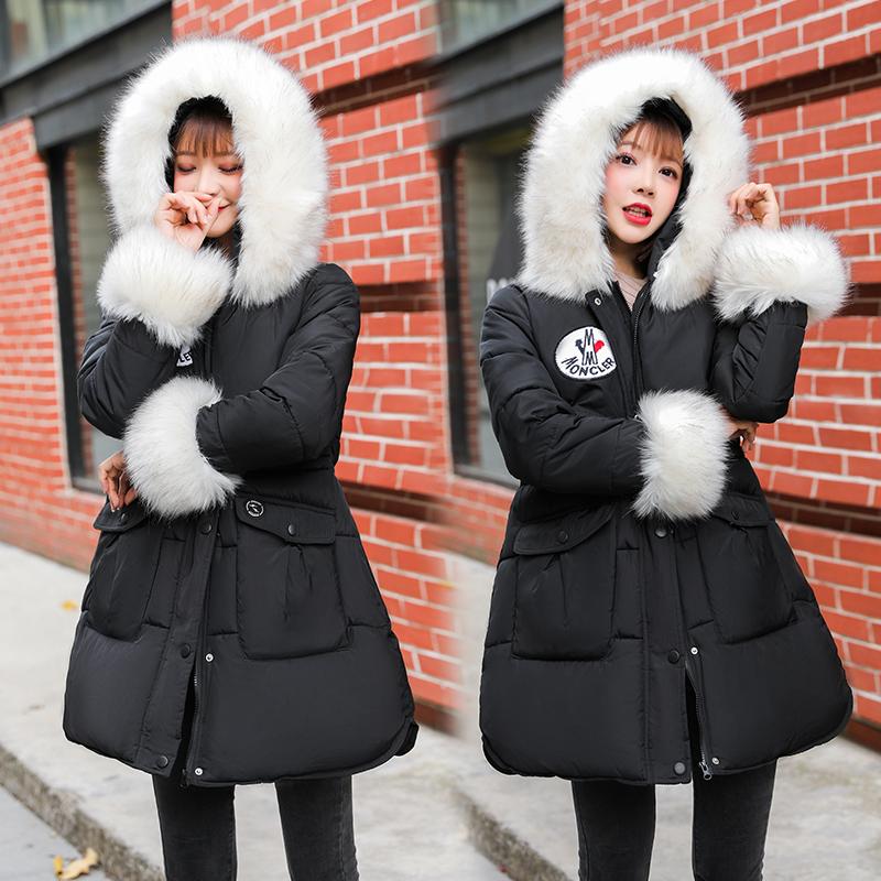 ผู้หญิงฤดูหนาวลงเสื้อแจ็คเก็ตหญิง Harajuku หนาอบอุ่น Parkas เสื้อแจ็คเก็ตสุภาพสตรี Casual Hooded Outwear