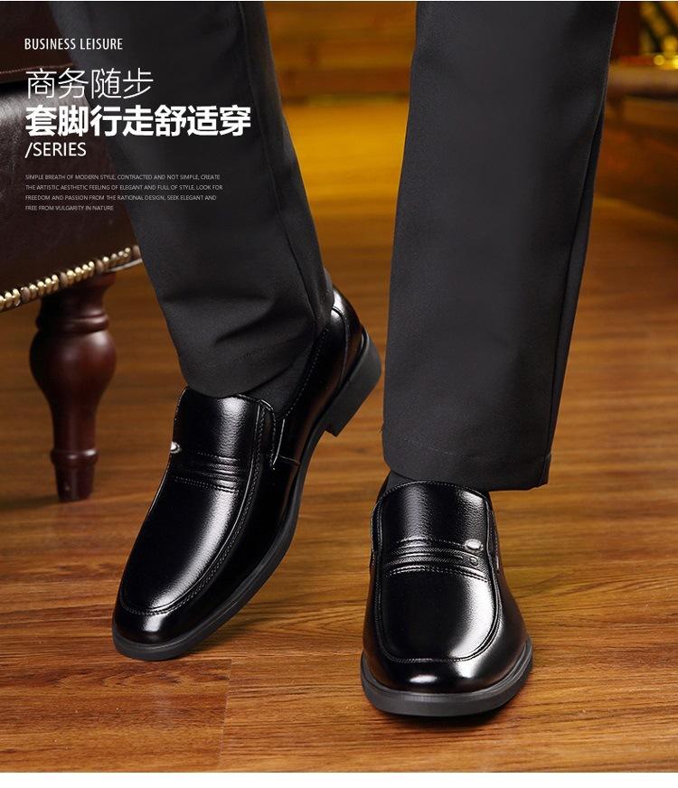 Parti porter des chaussures hommes glissent sur des chaussures de bureau 38-44 #