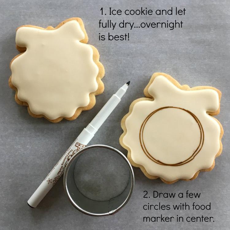 Yenilebilir işaretleyici kek bisküvi işaretleyici gıda dekorasyon