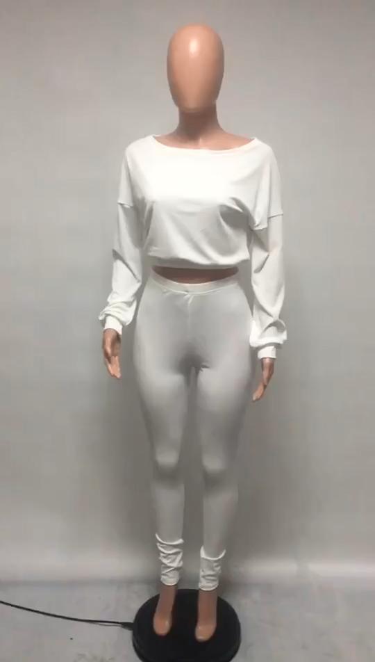 0820M231 спортивный костюм с длинными рукавами из 2 предметов, Женский комплект из двух предметов, осенняя одежда для женщин