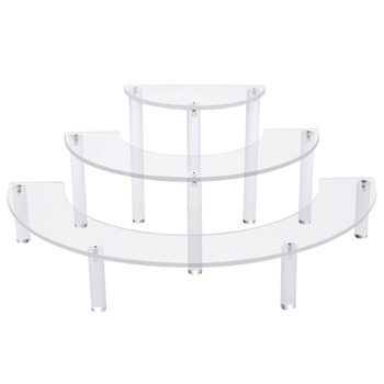 VONVIK 3 Tire Acrylic Display Stand,Retail Product Plastic Display Stands Countertop For Food Jewelry Cosmetic
