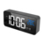 Wholesale alarm clock Rechargeable mirror surface LED Music Digital Desk Table alarm clock