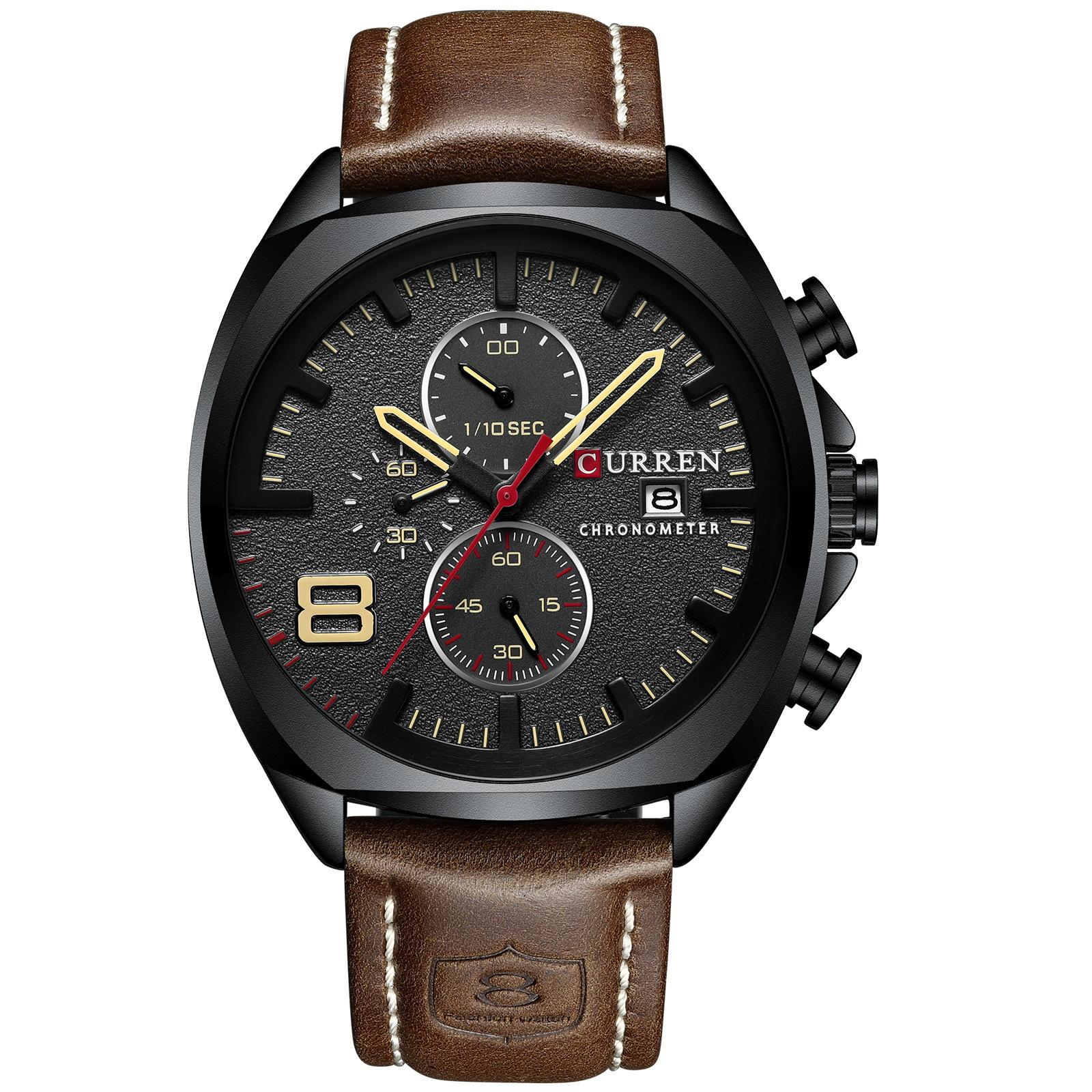 CURREN 8324 Männer Uhren Luxus Military Analog Quarz Uhr herren Sport Armbanduhr Relogio Masculino 30M Wasserdichte