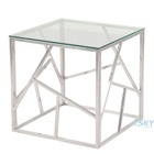 Stainless Steel Tempered Glass Console Table