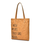 Wholesale Fashion Customized Printing Tyvek Paper Tote Shopping Bag