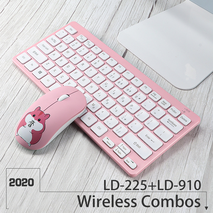 OEM Water Transfer Printing Keyboard and Mouse Mini Gift Wireless Computer Keyboard Combos