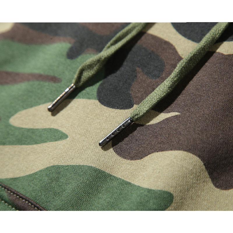 Newest High quality custom 100%cotton pullover gym camo hoodie