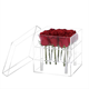 Wholesale Custom Display Box 9pcs Rose Luxury Square Crystal Clear Acrylic Flower Box