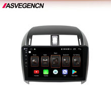 ASVEGEN Touch Screen Android Car Video Player Per Il 2007 Toyota Corolla di Navigazione Per Auto Con Wifi Poggiatesta