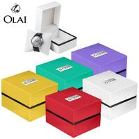 Low MOQ Classic Design Colorful Wholesale Factory Custom Logo Plastic Watch Gift Box, Plastic Watch Box With Pillow