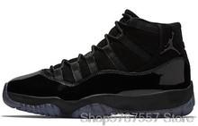 Мужская баскетбольная обувь Nike Air Jordan 11, оригинальная бейсболка с платиновым оттенком и бальное платье UNC, Спортивная красная гамма-синяя му...()