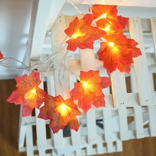 <span class=keywords><strong>Danksagung</strong></span> Dekorationen Led Streifen Lichter Maple Leaf String 20PCS Licht