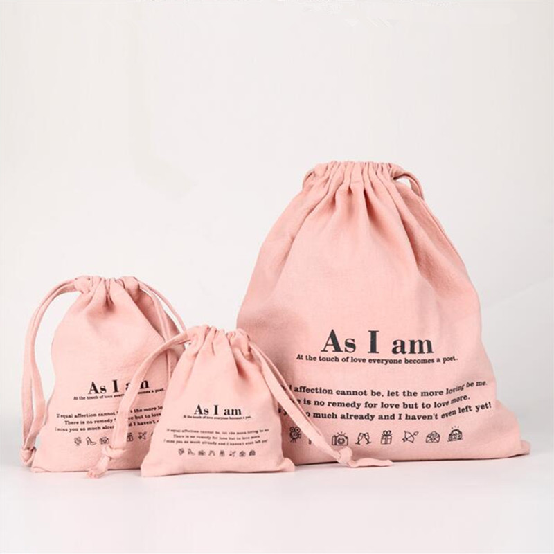 OEM Multiple Color Eco Friendly Custom Printed Small Cotton Draw String Pouch Drawstring jewelry Gift Bags