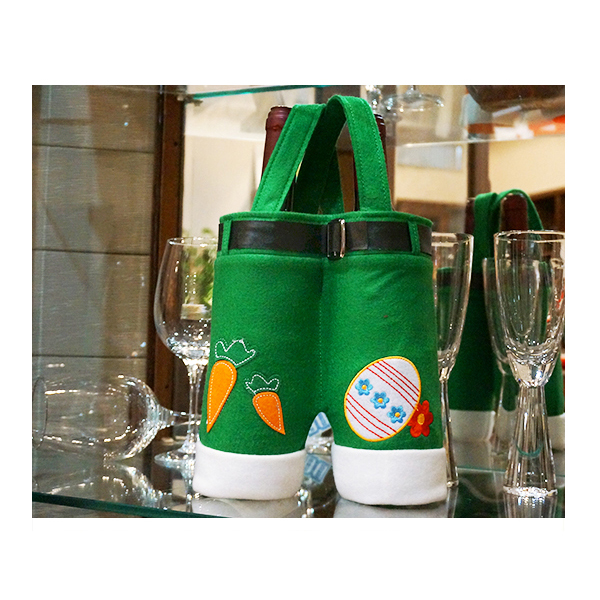 China supplier 2 bottles dividers felt wine bottle cover sleeve holder fot gift bag