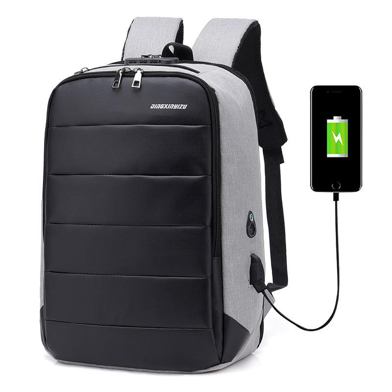 Anti-diebstahl Smart Laptop Rucksack mit USB Lade Port Reise Rucksack College Student Schule Daypack