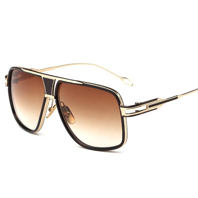 아마존 도매 핫 세일 패션 여성 선글라스 남자 UV400 로고 준비 재고 금속 프레임 선글라스
