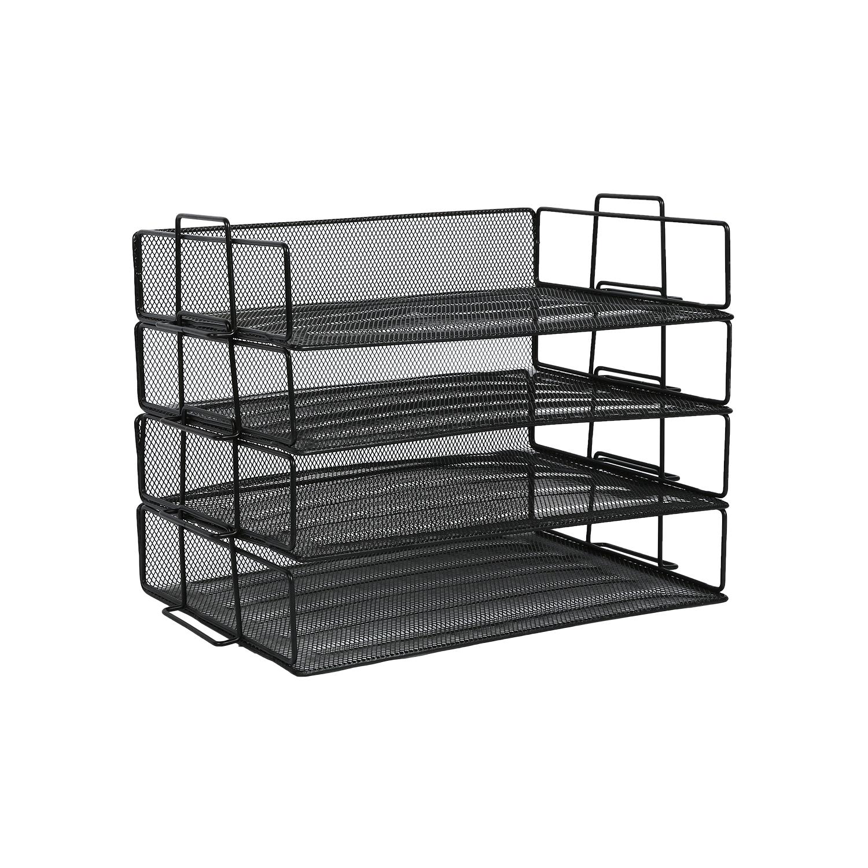 OEM ODM ручная пресс-форма 3 яруса кружевных цельного металла сетки стол лоток для документов офисном папка для документов Файл для канцелярских принадлежностей