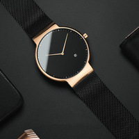 2019 Ultra Thin Minimal Watch Swiss Private Label Fossill Watches Men Wrist Sport Men Diver Dive Luxury Man Watch