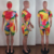 Women Print 3 Pieces Sets Tracksuits Short Sleeve T-shirt Shorts With Face Cover Fitness Sporty Outfits