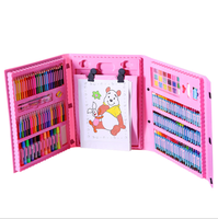 176Pcs hot selling High Quality children school stationery Gift School Items Cheap Painting Stationery Set