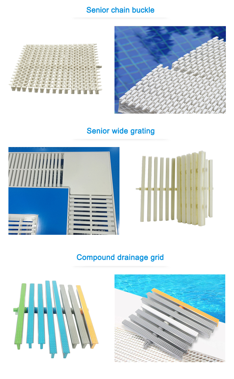 Durable ABS Overflow Swimming Pool Grating Tile 30M Floor Grating