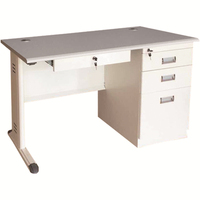 High quality good appearance office table steel legs with melamine top
