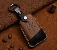 Модный автомобильный чехол для ключей из натуральной кожи для VW Passat B8 CC Magotan Smart Remote Key Protect accessories(Китай)