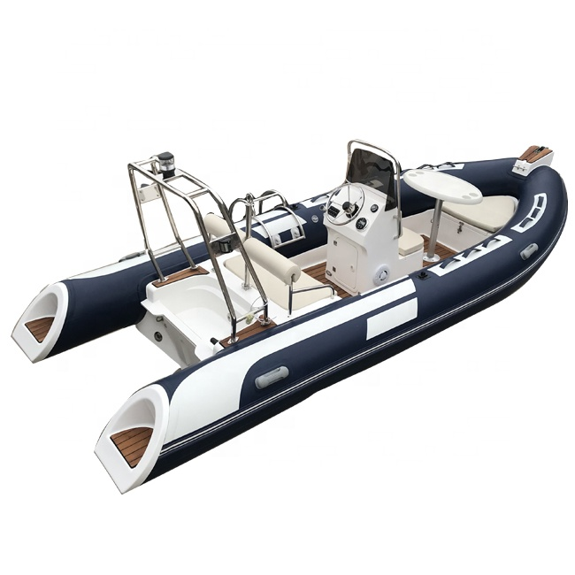 RIB 480 Deep V Hypalon RIB Inflatable Rigid <strong>Boat</strong> with Outboard Engine