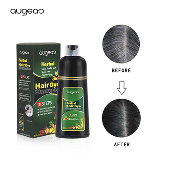 Hot sale Meidu private label ammonia free fast long lasting color natural herbal fast magic black hair dye shampoo in hair dye