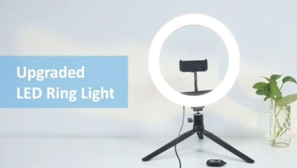 2020 tiktok di trucco di bellezza 10 pollici anello di luce aggiornata fotografia 26 centimetri mini selfie treppiede riempimento cerchio led ad anello luce