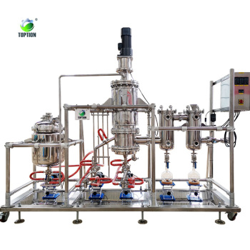 High Quality Short Path Wiped Film Evaporator Molecular Distillation Machine for CBD Oil