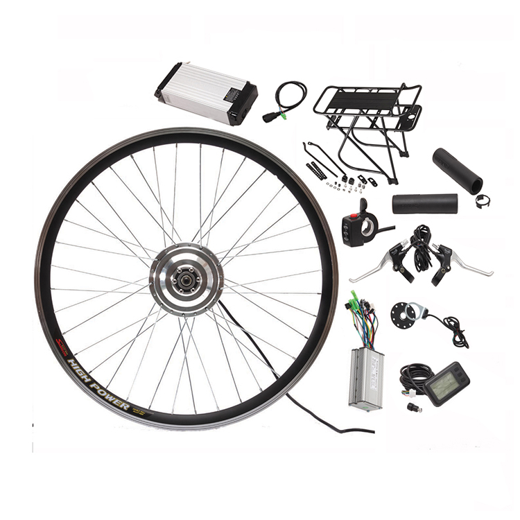 DIY 36V 48V 250W 350W 500W 1000W electric bike conversion kit with lithium battery
