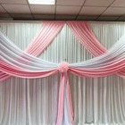2018 November New Arrival White Pink Backdrop,Swag Drapes For Curtain Wedding Party Decoration/
