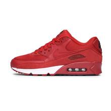 Оригинальные подлинные мужские кроссовки для бега NIKE AIR MAX 90, Классические спортивные кроссовки на шнуровке, удобные дышащие 537384-136(Китай)