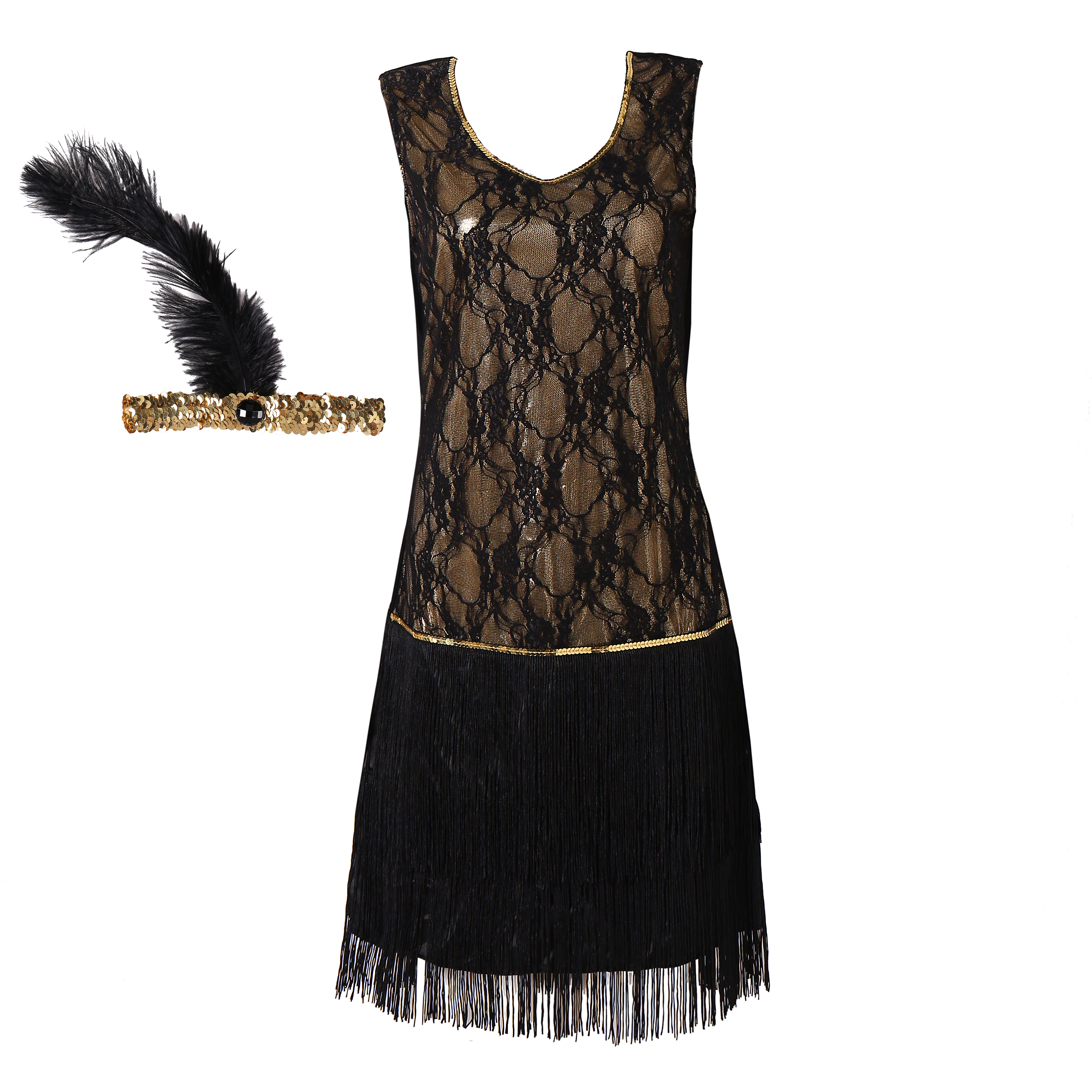 Halloween Party Fashion Black Sequin Lace Dress Full Sequins Dresses Women Sexy Shine Lace Formal Dress