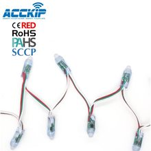 ACCKIP Volle Farbe Weihnachten Dekoration 12mm Runde LED <span class=keywords><strong>Pixel</strong></span> ws2811 LED String Licht mit CE ROHS